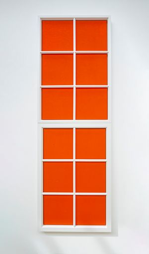 Fenstermalerei #16 by Fredrik Værslev contemporary artwork