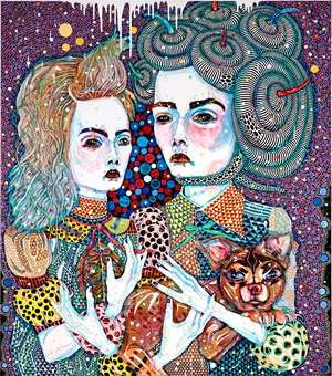 Wild Jelly Beans by Del Kathryn Barton contemporary artwork