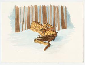 Plankboy Hurt by Sean Landers contemporary artwork