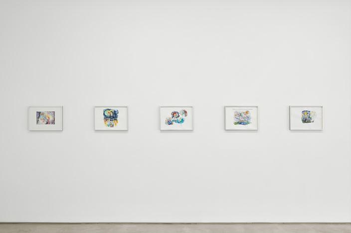 Exhibition view: Helen Marten, 18 Works on Paper, Sadie Coles HQ, Kingly Street, London (16 September–17 October 2020). © Helen Marten. Courtesy Sadie Coles HQ, London.Photo: Robert Glowacki.