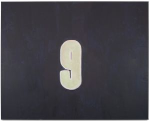 Numbers (Nine) by Luc Tuymans contemporary artwork