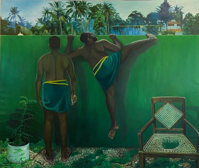 The Wall Between Us by Ratheesh T. contemporary artwork