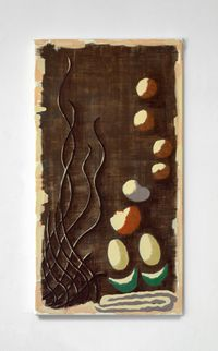 Textile design - Wall Hanging by Michelle Hanlin contemporary artwork works on paper