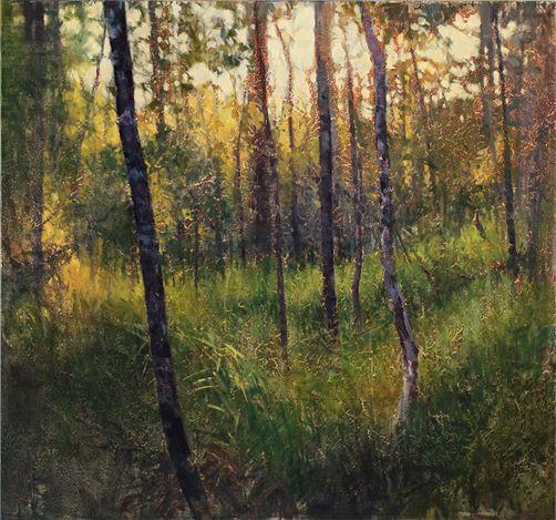 AJ Taylor, Nocturne (2018). Oil on board, 58 x 62 cm. Courtesy Martin Browne Contemporary.