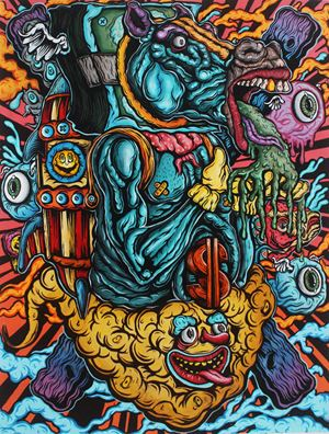Take this Vomit You're Gonna be Immune! by Shafiq Nordin contemporary artwork