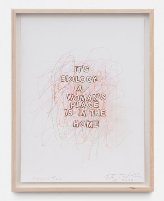 Scrawl #20 by Betty Tompkins contemporary artwork