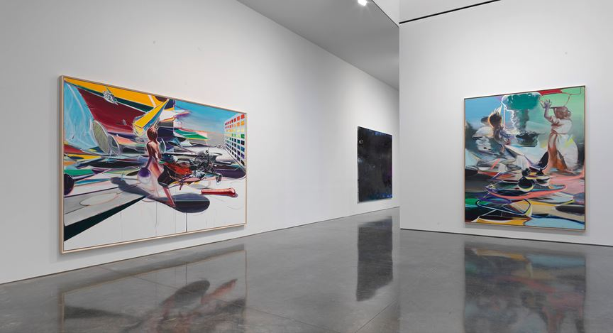 Exhibition view: Jia Aili, Combustion, Gagosian, West 21st Street, New York (7 March–13 April 2019). © Jia Aili Studio. Courtesy Gagosian.Photo: Rob McKeever.