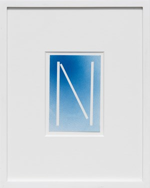 The Letter N by Ed Ruscha contemporary artwork