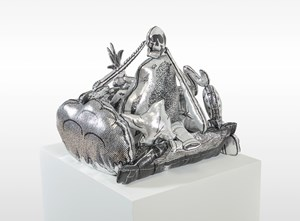 Games, Dance & the Constructions ( Soft Toy/Silver ) #2 遊戲、舞與結構(填充玩具/銀)#2 by Teppei Kaneuji contemporary artwork