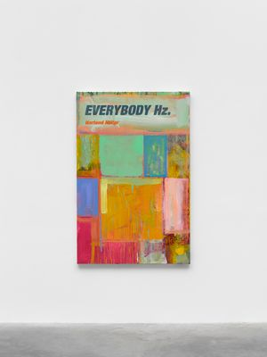 Everybody Hz by Harland Miller contemporary artwork painting, works on paper