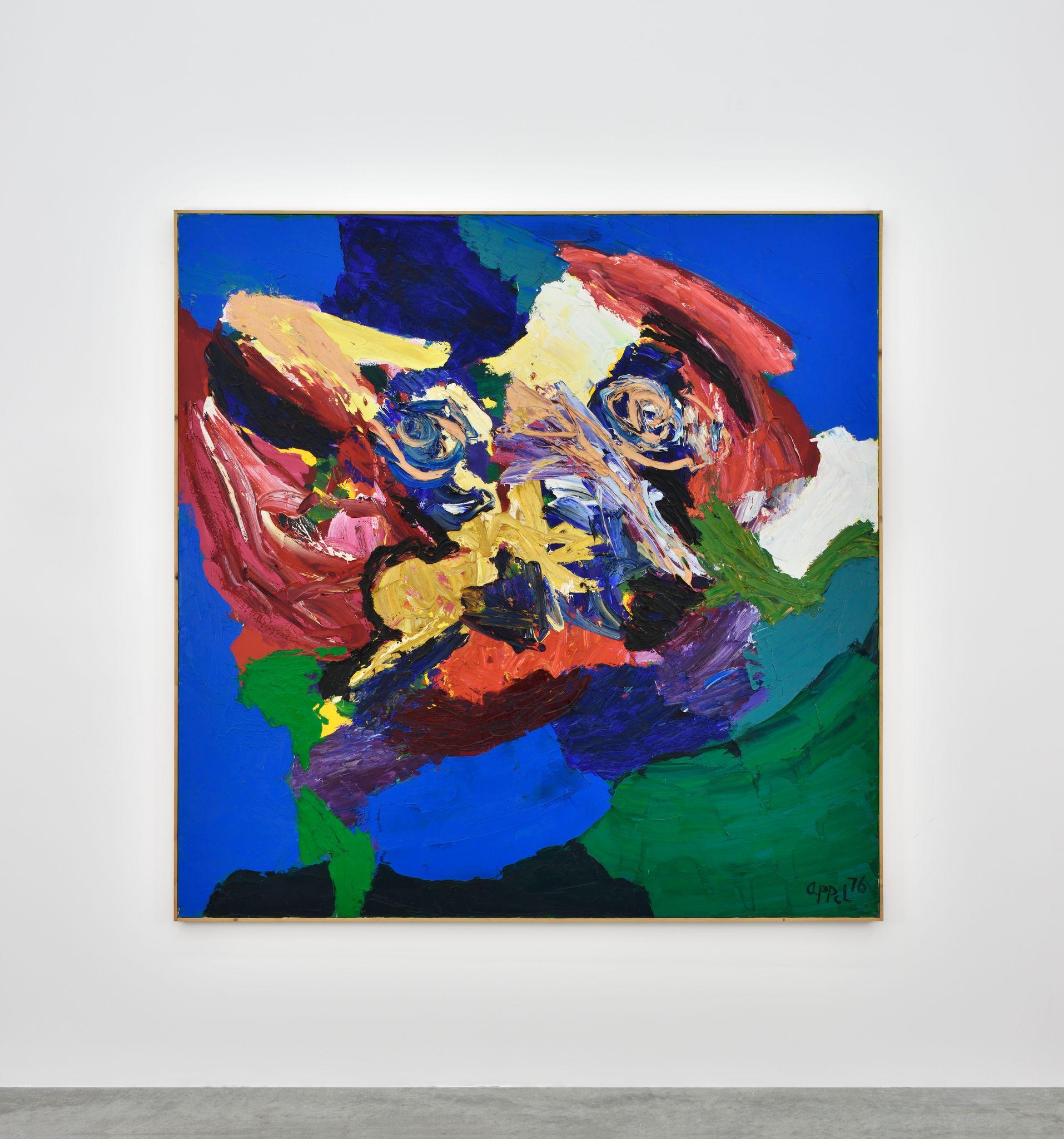 Visage-Paysage no.3 by Karel Appel contemporary artwork