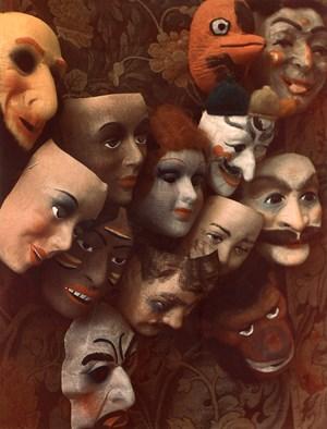 Masks, Boston by Marie Cosindas contemporary artwork