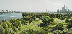 Study of Green-Seoul-Vacant Lot-Bamseom (Islet) by Honggoo Kang contemporary artwork