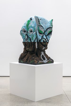 Four Nights of a Dreamer by Huma Bhabha contemporary artwork