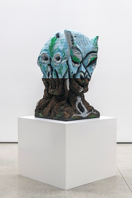 Four Nights of a Dreamer by Huma Bhabha contemporary artwork