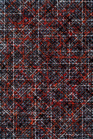 Appearance of Crosses 2016-B24 by Ding Yi contemporary artwork