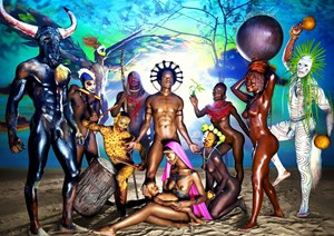 Nativity by David LaChapelle contemporary artwork