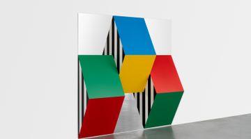 Contemporary art exhibition, Daniel Buren, Géométries colorées at Xavier Hufkens, Rivoli, Brussels