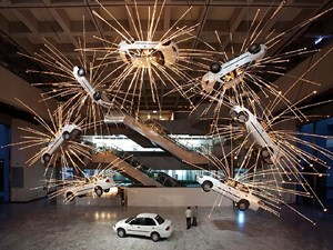 Inopportune Stage One by Cai Guo-Qiang contemporary artwork installation
