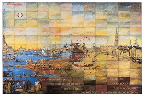Fiction of Place by Imants Tillers contemporary artwork