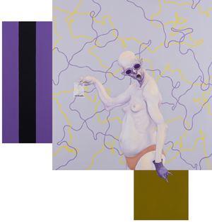 The Gallery II by Michael Kvium contemporary artwork