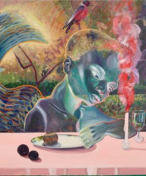 Celestial diners III by Ndidi Emefiele contemporary artwork