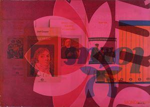 Panorama politico by Mimmo Rotella contemporary artwork