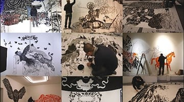 Contemporary art exhibition, Sun Xun, Stop-motion Residency Project at ShanghART, Beijing, China