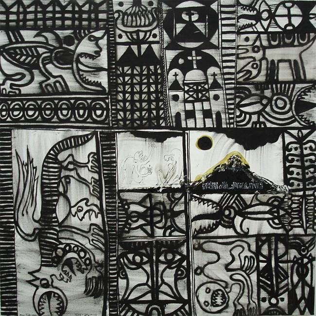 Omonuo by John Pule contemporary artwork