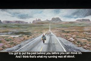 Forrest Gump: You got to put the past behind you before you can move on. And I think that's what my running was all about by Chow Chun Fai contemporary artwork