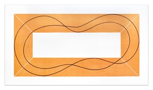 Extended Frame with Separation by Robert Mangold contemporary artwork