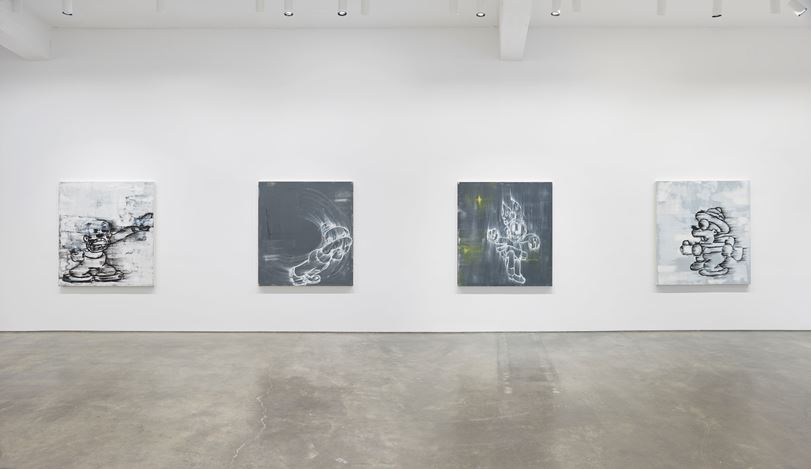 Exhibition view: Gary Simmons, Screaming into the Ether, Metro Pictures, New York (26 March–25 April 2020). Courtesy Metro Pictures, New York.