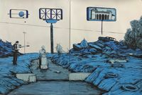 Scenery in Blue #8 by William Buchina contemporary artwork painting, works on paper, drawing