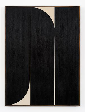 Black #2 by Johnny Abrahams contemporary artwork