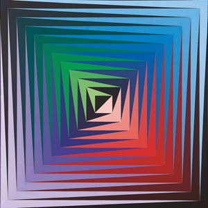 Vonal-Fèny by Victor Vasarely contemporary artwork