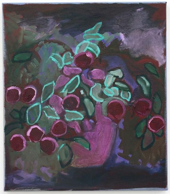 Luminous leaves and dark plums by Layla Rudneva-Mackay contemporary artwork