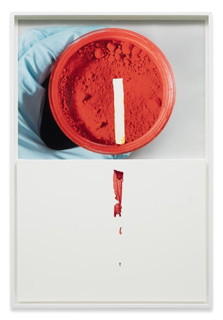 Markings (from Cadmium Red, L. Cornelissen & Son) by Analia Saban contemporary artwork