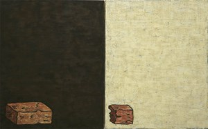 One and a Half Bricks (diptych) by Dick Frizzell contemporary artwork