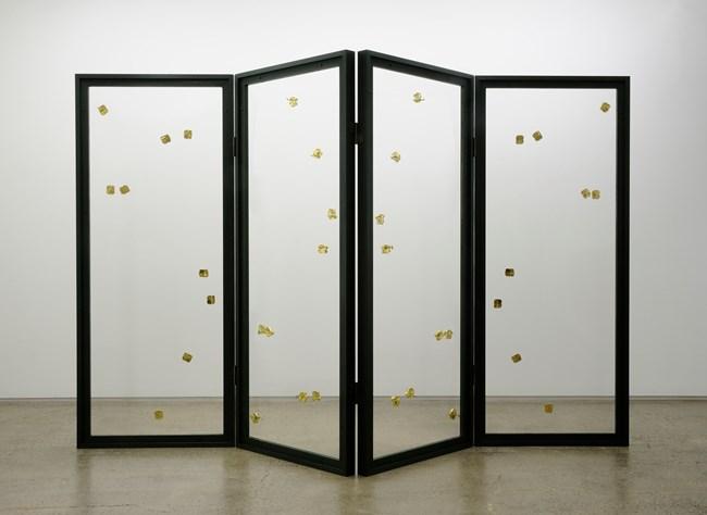 The Music (four-panel folding screen) by Yukio Fujimoto contemporary artwork