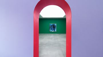 Contemporary art exhibition, Nicolas Party, Grotto at Xavier Hufkens, St-Georges, Brussels