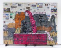 untitled (immoral compass) by Rirkrit Tiravanija contemporary artwork painting