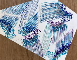 Abstract / Expression / Painting (Porcelain Stone and Moving Image) #3 by Kosuke Ikeda (池田 剛介) contemporary artwork painting, works on paper