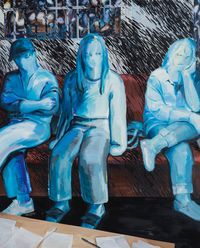 Night Freaks - Three Glaciers at the Police Station by Eunsae Lee contemporary artwork painting