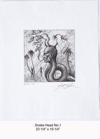 Snake Head No.1 by Ashley Bickerton contemporary artwork print