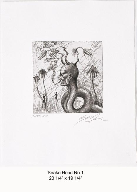 Snake Head No.1 by Ashley Bickerton contemporary artwork