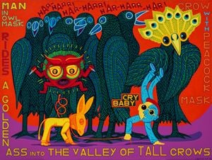 The Valley of Tall Crows by Christopher Battye contemporary artwork