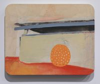 Orange daydreams by Radhika Khimji contemporary artwork painting, works on paper