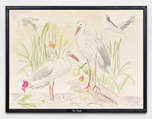 Two Storks by Jos de Gruyter & Harald Thys contemporary artwork