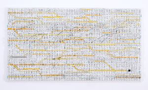 Traffic 1802 (yellow) by Katsumi Hayakawa contemporary artwork