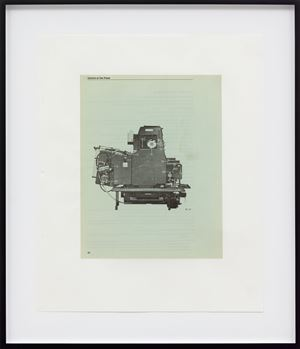 Untitled (Heidelberg Single-Color Offset Press, page 30) by Mathias Poledna contemporary artwork